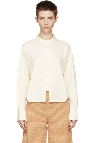 Eckhaus Latta - Yellow Cropped Shirt