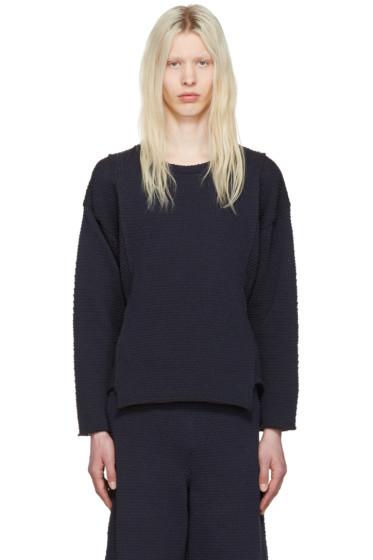 Eckhaus Latta - Navy Panel Sweater