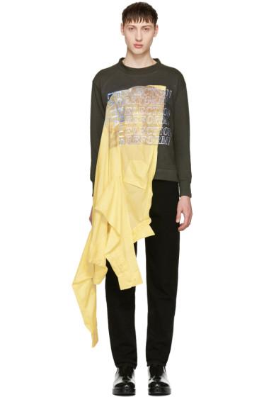 Eckhaus Latta - Green & Yellow Election Reform Edition Sweatshirt