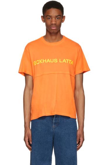 Eckhaus Latta - Orange Lapped T-Shirt