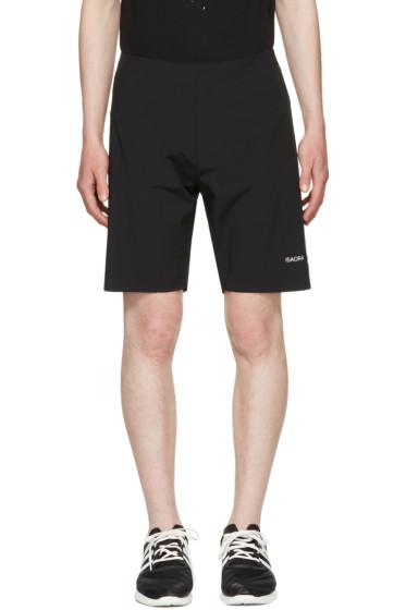 "ISAORA - Black 8.5"" Welded Running Shorts"