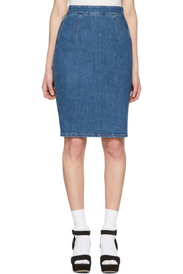 Miu Miu - Blue Denim Pencil Skirt