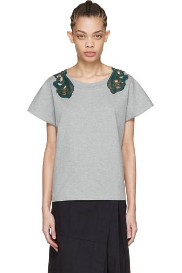 Harikae  - Grey Lace T-Shirt