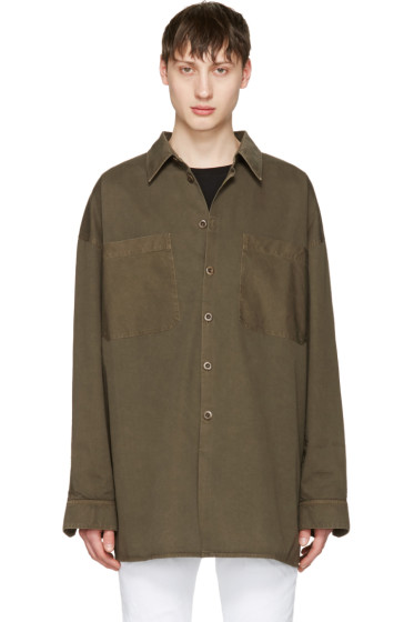 Faith Connexion - Khaki Cotton Shirt