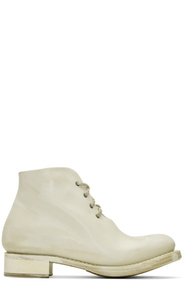 Cherevichkiotvichki - Off-White One-Piece Goodyear Boots
