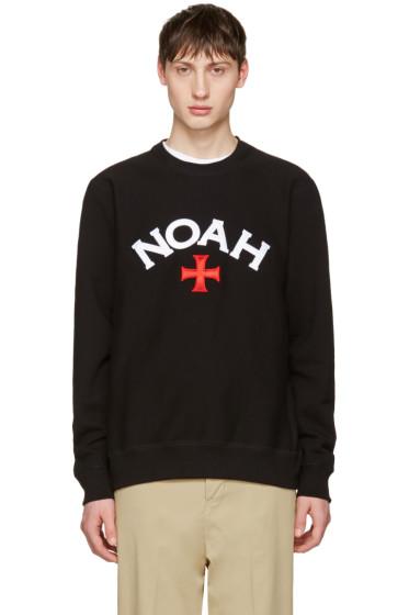 Noah NYC - Black Varsity Logo Sweatshirt