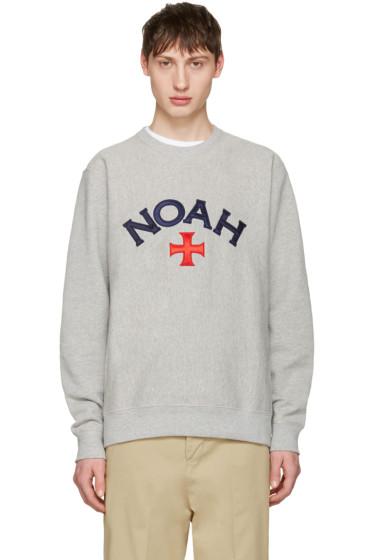 Noah NYC - Grey Varsity Logo Sweatshirt