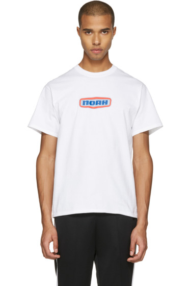 Noah NYC - White Gas Station Logo T-Shirt