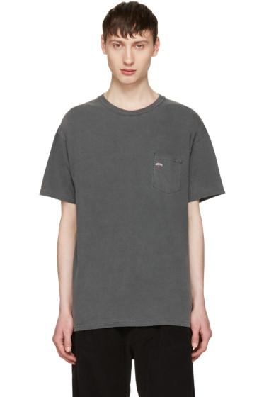 Noah NYC - Grey Pocket Logo T-Shirt