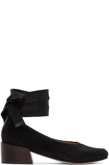 Mari Giudicelli  - Black Suede Pina Ballerina Heels
