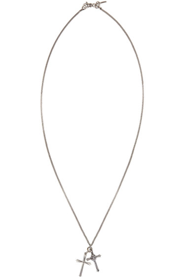 Emanuele Bicocchi - Silver Double Cross Necklace
