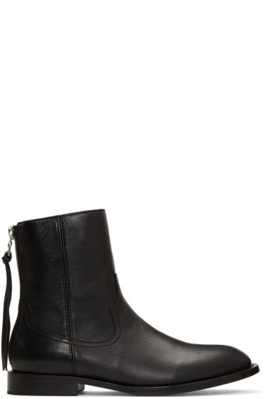 Amiri - Black Leather Shane Boots