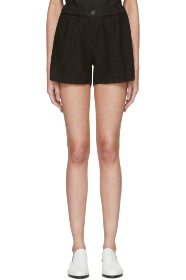 Moderne - Black Linen Shorts