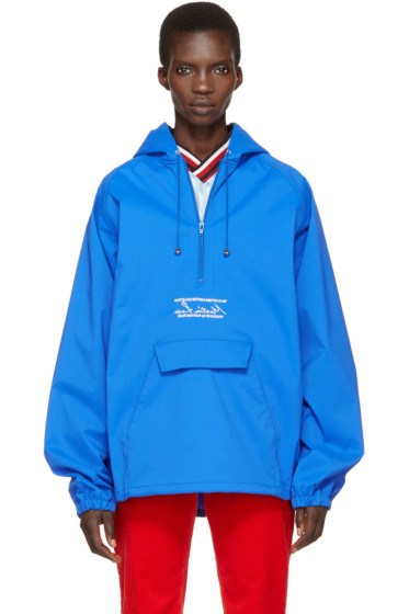 Martine Rose - Blue Oversized Wind Cheater Jacket