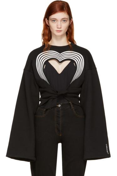 Y/Project - Black Heart Cut-Out Sweatshirt