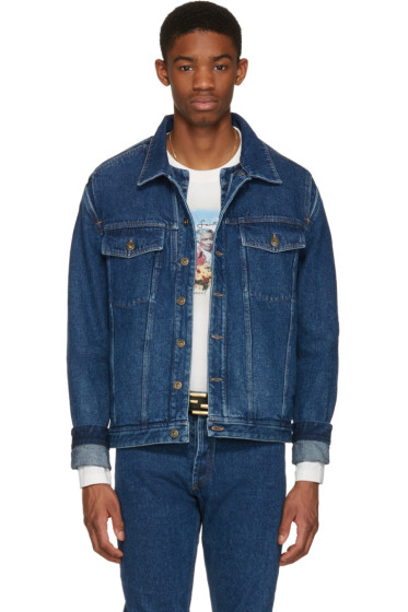 Y/Project - Navy Denim Cut-Out Jacket