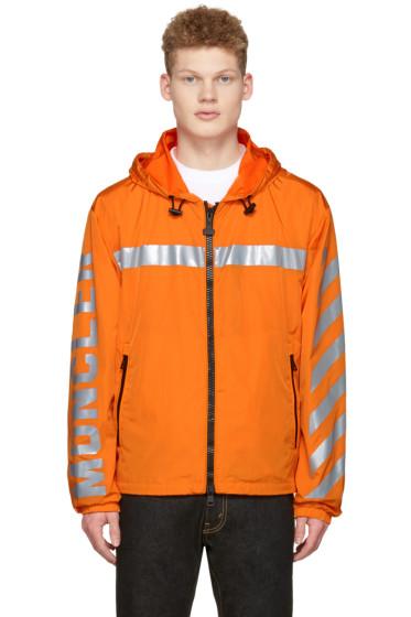 Moncler O - Orange Logo Windbreaker Jacket