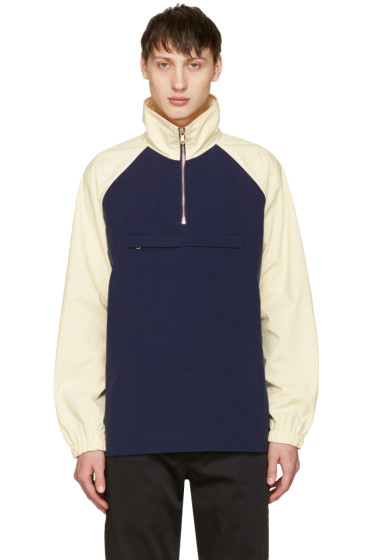 Aime Leon Dore - Navy & Off-White Nylon Popover Jacket