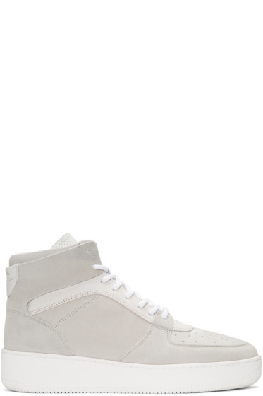 Aime Leon Dore - Grey Leather High-Top Sneakers