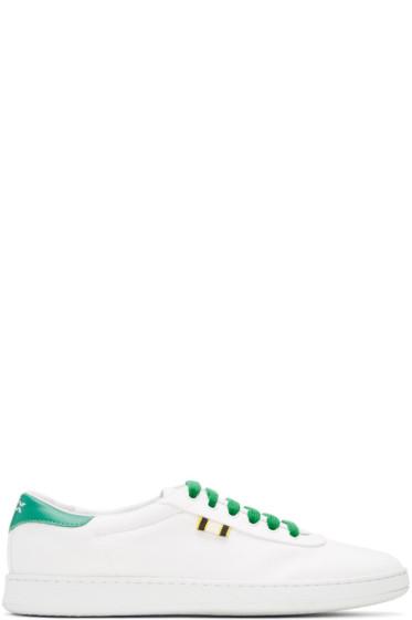 Aprix - White & Green Canvas APR-003 Sneakers