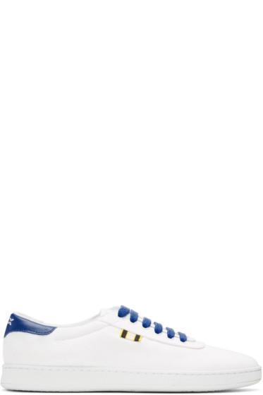 Aprix - White & Blue Canvas APR-003 Sneakers