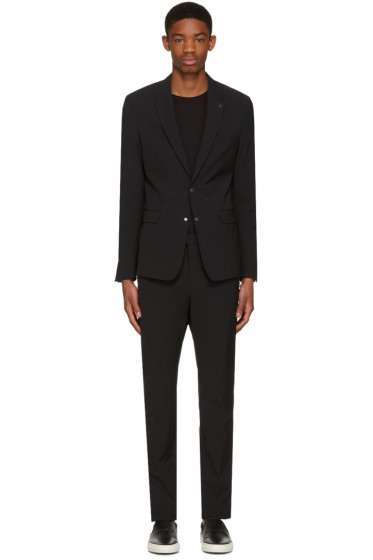 Philippe Dubuc - Black Poplin Zippered Suit