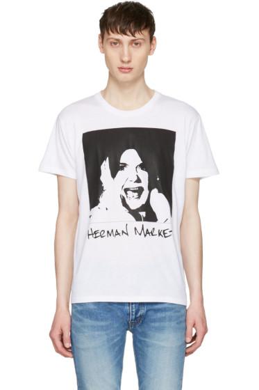Herman - White Printed T-Shirt