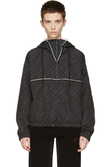 adidas Originals by Alexander Wang - Black Windbreaker Jacket