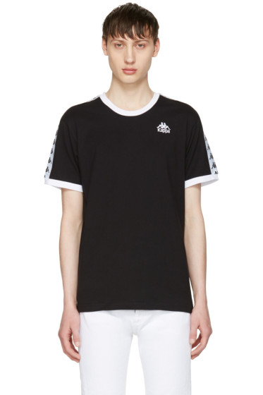 Kappa - SSENSE Exclusive Black & White Authentic Vale T-Shirt