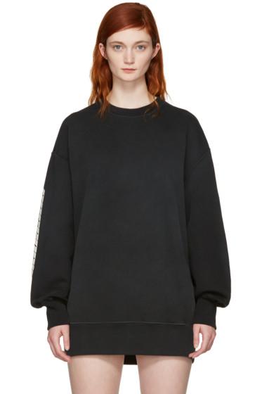 YEEZY - Black 'Calabasas' Boxy Crewneck Sweatshirt
