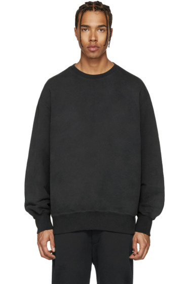 YEEZY - Black Boxy Crewneck Sweatshirt