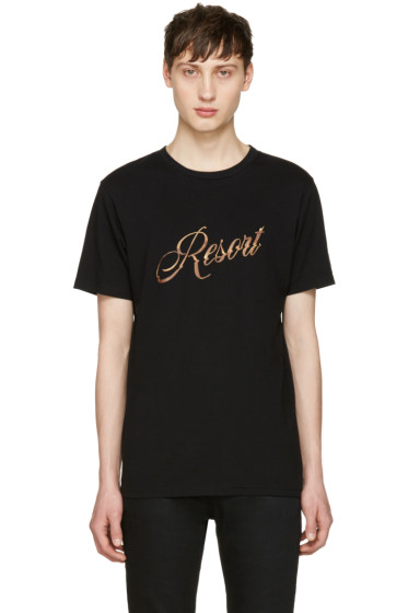 Resort Corps - Black Bootleg Logo T-Shirt