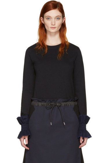 Ovelia Transtoto - Black Frill Cuff T-Shirt