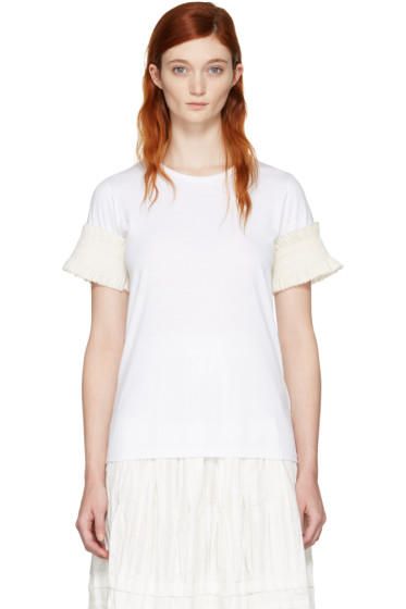 Ovelia Transtoto - White Frill Sleeve T-Shirt