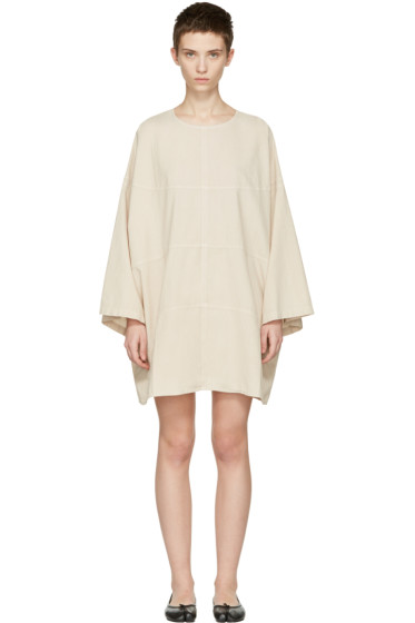 69 - SSENSE Exclusive Beige Chambray Basketball Dress