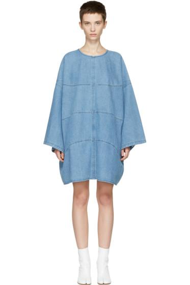 69 - SSENSE Exclusive Blue Denim Basketball Dress