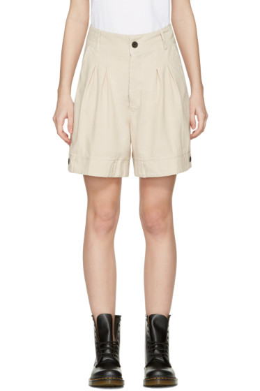 69 - Beige Chambray Bermuda Shorts