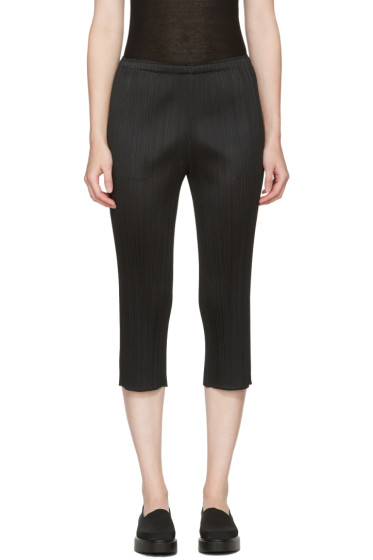 Pleats Please Issey Miyake - Black Pleated Trousers