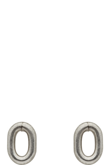 Sophie Buhai - Silver Oval Stud Earrings