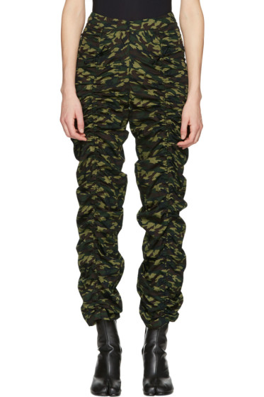 Molly Goddard - Green Camo Cleo Trousers