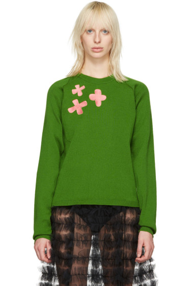Molly Goddard - Pull vert Embroidered Charlie