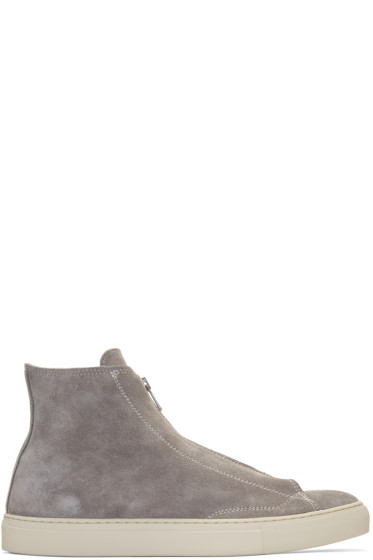 nonnative - Grey Suede Dweller High-Top Sneakers