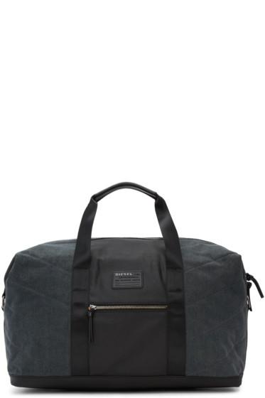 Diesel - Black & Indigo D-V-Denim Duffle Bag