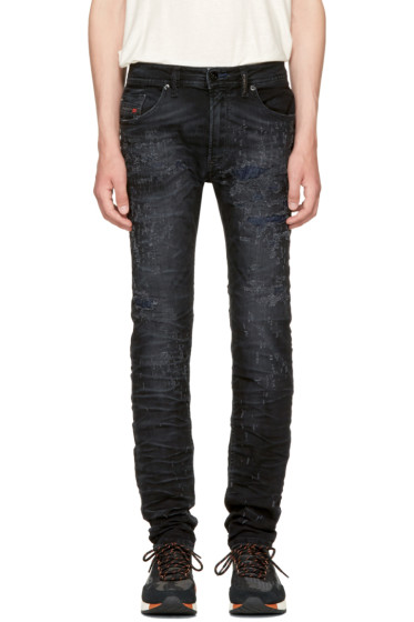 Diesel - Black Thommer Scratch Jeans