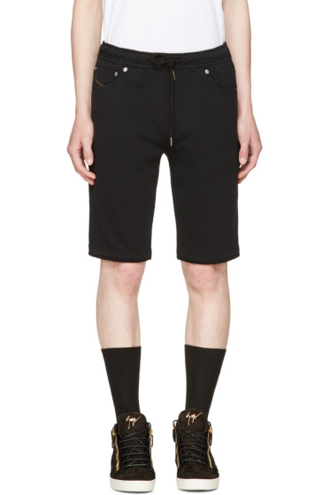 Diesel - Black Jiffery-Sho-Sw Shorts