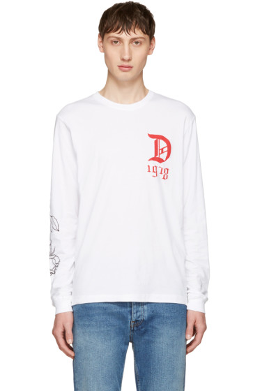 Diesel - White T-Joe-LS-QA T-Shirt