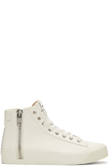 Diesel - Off-White S-Voyage High-Top Sneakers