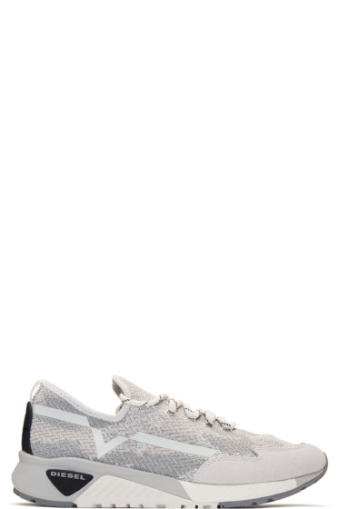 Diesel - White & Grey S-KBY Sneakers