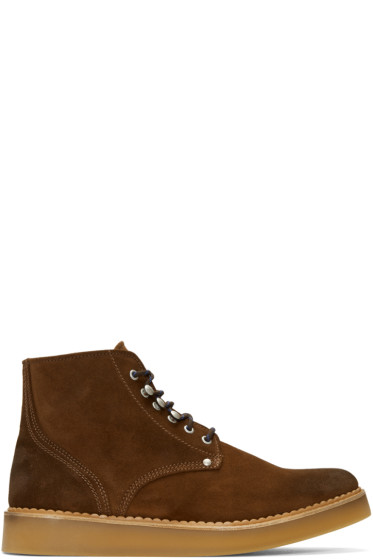 Diesel - Brown D-Army Lace-up Boots