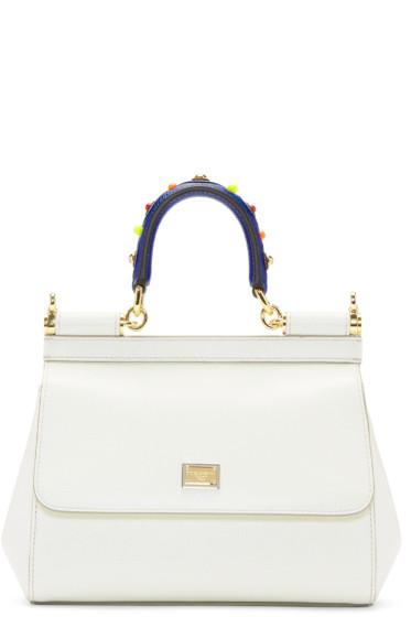 Dolce & Gabbana - White Small Miss Sicily Bag